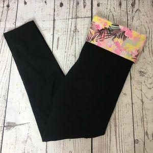 PINK Victoria's Secret Bling Floral Yoga Leggings